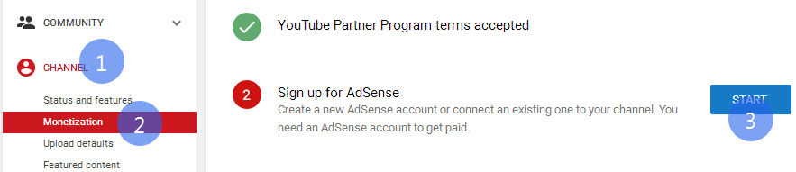 link adsense to your youtube channel